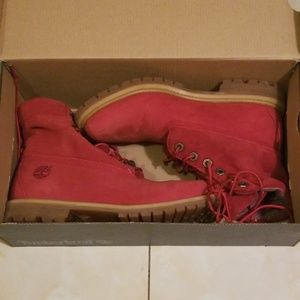 COPY - Red timberland boots